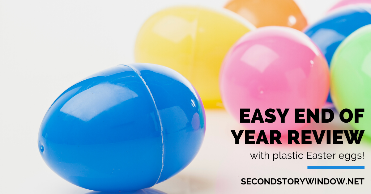 Easy End of Year Review with Easter Eggs