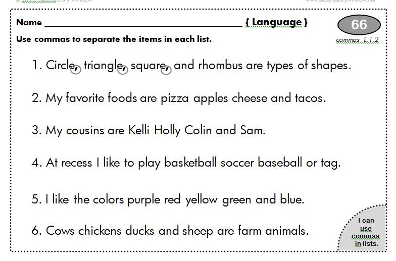 punctuation worksheets grade 4 pdf