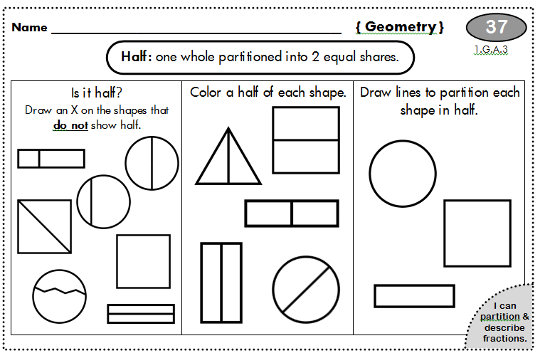 Geometry Worksheets For First Grade Free Worksheets ...