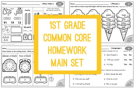 Printables 1st Grade Common Core Math Worksheets common core worksheets for first grade davezan davezan