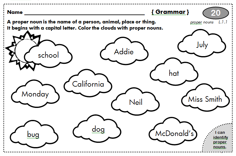 Common And Proper Noun Worksheets High School Templates and – Proper Noun Worksheets