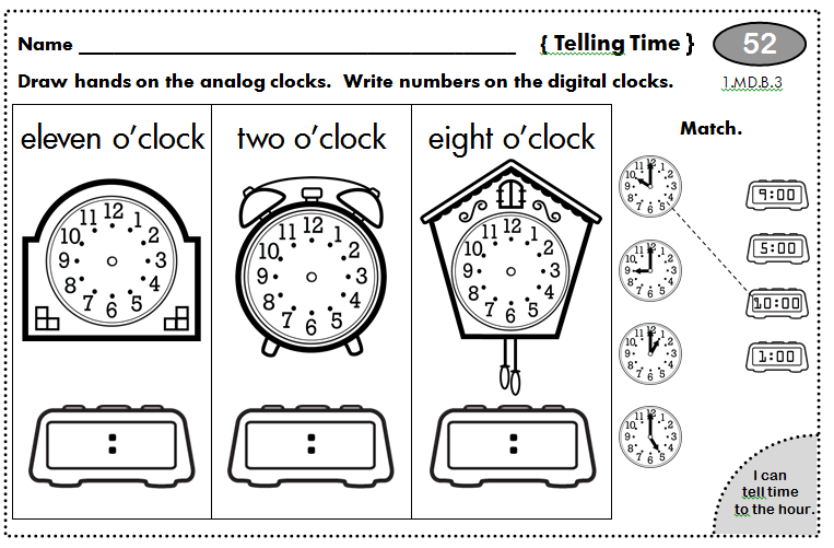 1st Grade Homework - spiral review for the year!