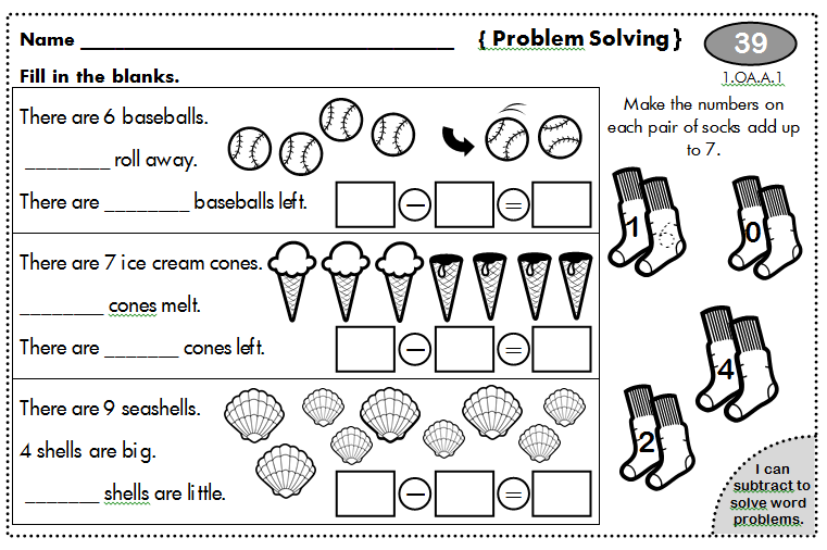1st Grade Math Problem Solving Scalien – 1st Grade Math Problem Solving Worksheets