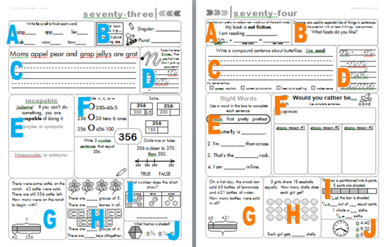 3rd Grade Common Core Aligned Morning Work Second Story Window – 3rd Grade Common Core Math Worksheets