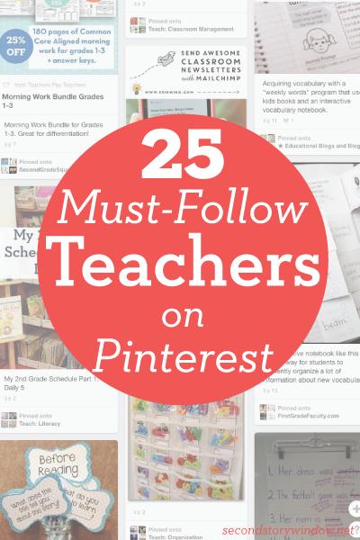 25 Must Follow Teachers on Pinterest