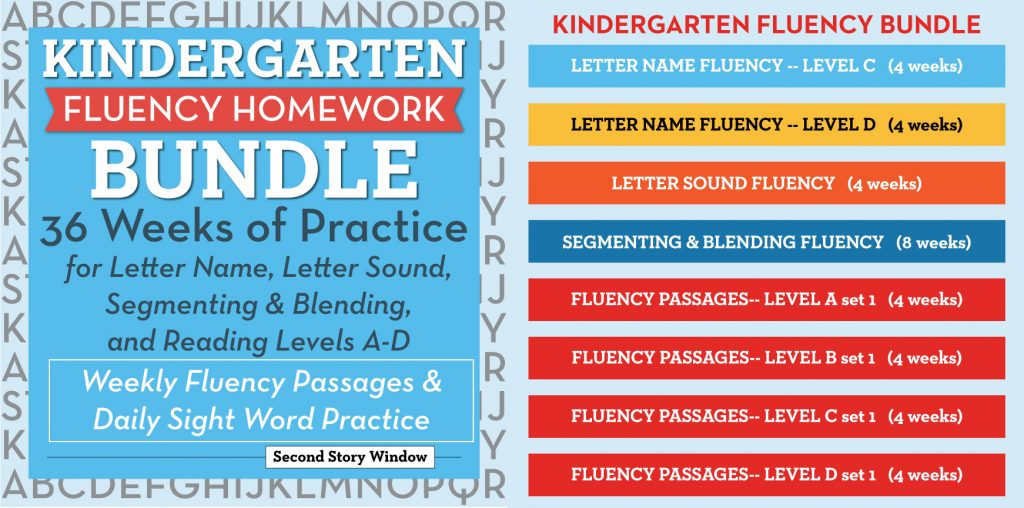 Kindergarten Fluency Bundle