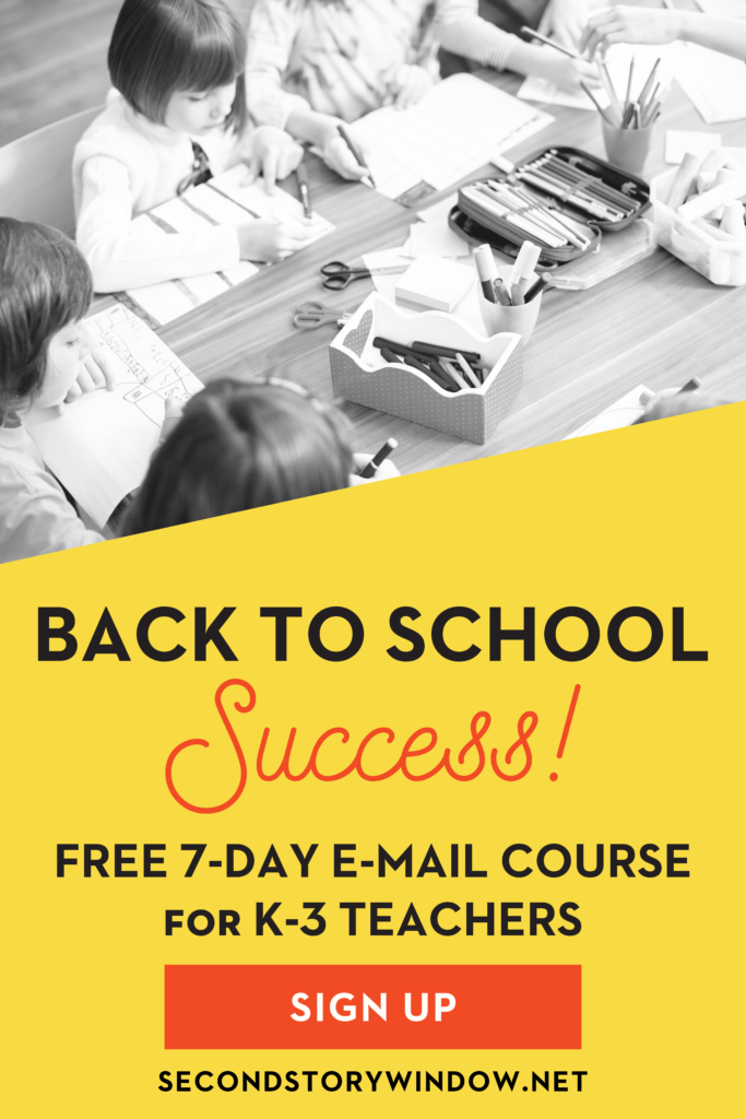 Back to school free e-mail course for k-3 teachers